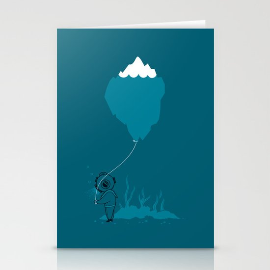 The Diver and his Balloon Stationery Card