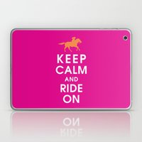 Keep Calm And Ride On (h… Laptop & iPad Skin