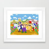 Wario And Foes Framed Art Print