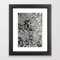Black Lace and Bling Framed Art Print