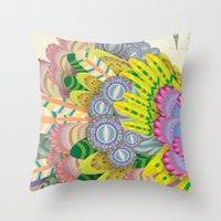 Cloud Peacock Throw Pillow