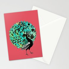 Neon Peacock Stationery Cards