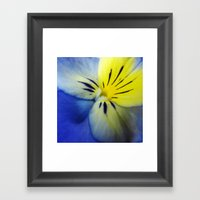 Flower Blue Yellow Framed Art Print
