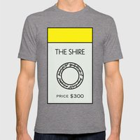 The Shire Monopoly Location Mens Fitted Tee Tri-Grey SMALL
