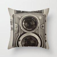 Flexaret | Vintage Camera Throw Pillow