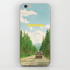 NEVER STOP EXPLORING IV iPhone & iPod Skin