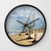 Hobcaw Boneyard Beach Morning Wall Clock