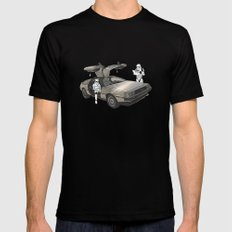 Lost, searching for the DeathStarr _ 2 Stormtrooopers in a DeLorean  Mens Fitted Tee Black SMALL