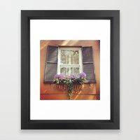 Savannah Window Framed Art Print