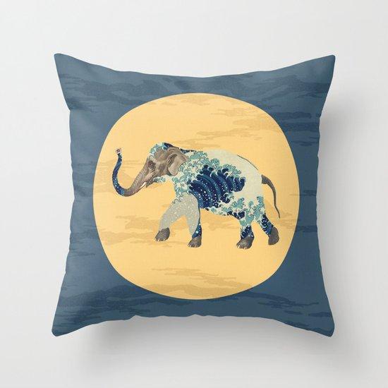 Elephant Polka Throw Pillow