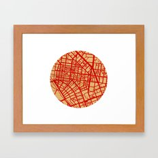 Map of the Town Framed Art Print