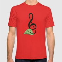 Nature Song Mens Fitted Tee Red SMALL