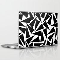Laptop & iPad Skin featuring black triangle pattern by Georgiana Paraschiv