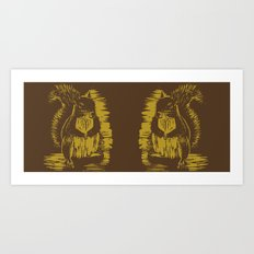Gold Squirrel Mug Art Print