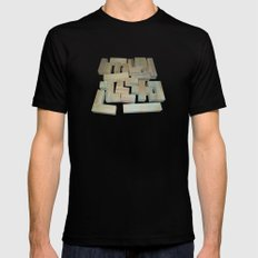 Mosaik 1.1 Black Mens Fitted Tee SMALL