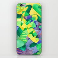 Green Doodle iPhone & iPod Skin