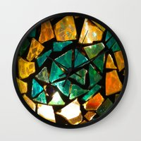Broken Glass Wall Clock