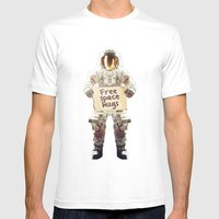 Space hugs Mens Fitted Tee White SMALL