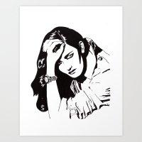 In Black & White IV Art Print