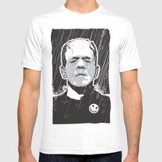 Frankenstein SMALL White Mens Fitted Tee