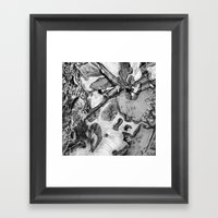 Ice And Mud Framed Art Print
