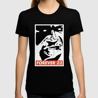Obey Forever 23 Womens Fitted Tee Black SMALL