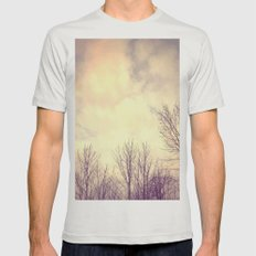 Her Bare Branches Waited for Spring Mens Fitted Tee Silver SMALL
