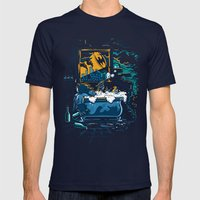 Midnight Crisis Mens Fitted Tee Navy SMALL