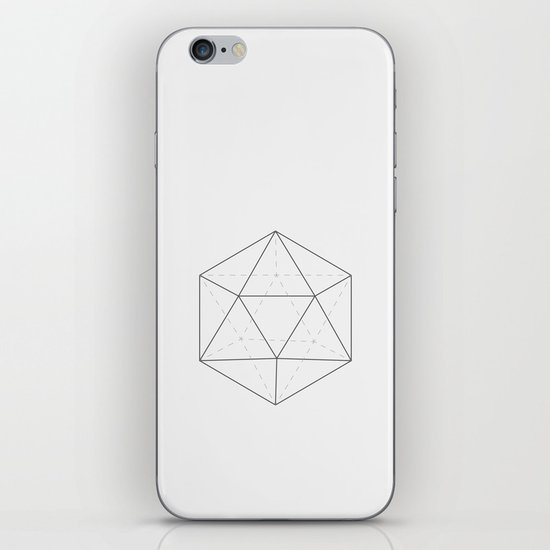 Black & white Icosahedron iPhone & iPod Skin