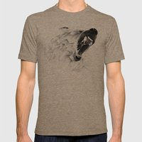 Angry Bear Mens Fitted Tee Tri-Coffee SMALL
