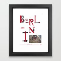 Bike to Life - Berlin Framed Art Print