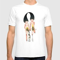 Eve And Adam With Their … Mens Fitted Tee White SMALL