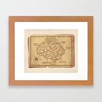 Food education for Zombies Framed Art Print