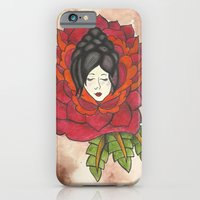 iPhone & iPod Case featuring Lady in Rose by Kitty Judge