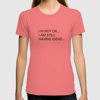Not OK Womens Fitted Tee Pomegranate SMALL