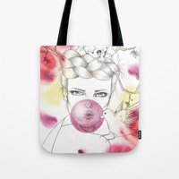 Bubble Birdie Tote Bag