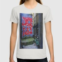 End Of The Alley Womens Fitted Tee Silver SMALL