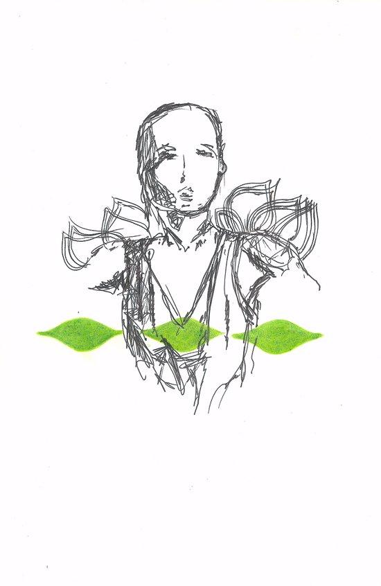 Leaf Lady Canvas Print