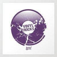 Vinyl Rocks Art Print