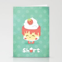 Strawberry Short Cake Stationery Cards