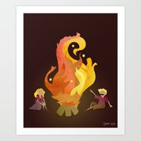 Campfire Magic Art Print