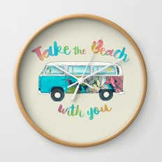 Take The Beach With You Wall Clock