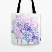 Watercolor Dolphin Tote Bag