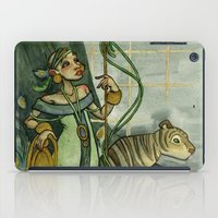 Woman With Tiger and Chair iPad Case