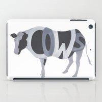 Cows Typography iPad Case