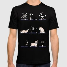 Shiba Yoga SMALL Black Mens Fitted Tee