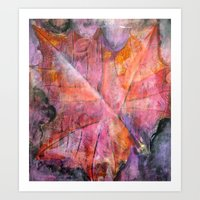 Art Print featuring Leaf Rubbing by Jacinda O'Neill