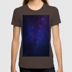 Stars From Telescope Womens Fitted Tee Brown SMALL