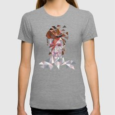 Bowie Stardust Womens Fitted Tee Tri-Grey SMALL
