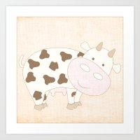 Cow Animal Farm Series Art Print